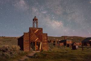 Night photography workshop at Bodie State Historic Park
